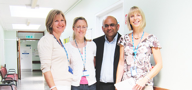 The clinical trial team